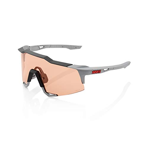 100% Speedcraft Brille Tall Soft tact Stone Grey/HD Multilayer/hiper 2020 Fahrradbrille von 100%