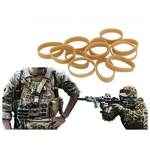 8FIELDS Navy Seals Airsoft Paintball Elastic Rubber Bands Gummiband 12pcs - Dark Earth von 8FIELDS