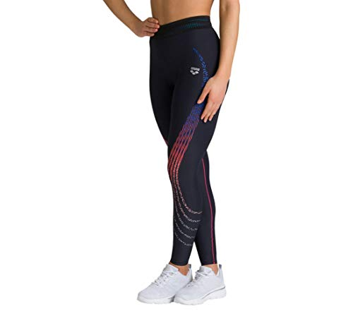 ARENA Damen Sport Hose Tights A-One, Black-Fluo red, XL von ARENA