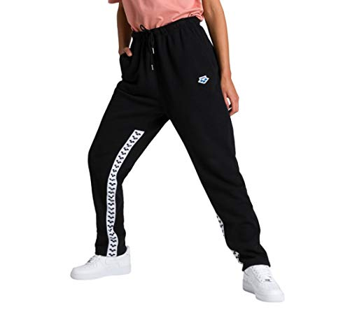 ARENA Unisex – Erwachsene Trainings Hose Team Fleece Trainingshose, Black-White-Black, L von ARENA
