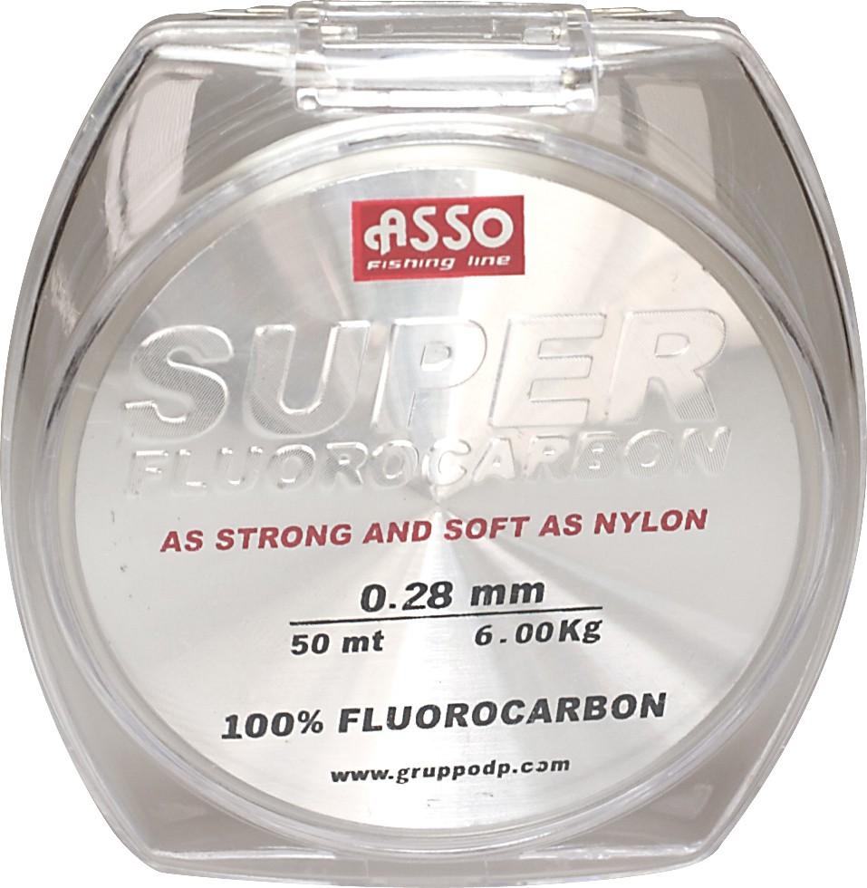 Asso Vorfach Fluorocarbon Angeln Schnur UltraLow Stretch 50m 0,40mm