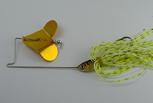 Akuna Buzzin Bomb Buzzbaits, Norwegisch Blond mit Golden Shad Jighead, Three of One Color von Akuna
