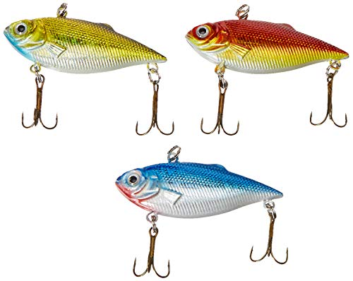 Akuna Pack of 3 Rattlin' Rover Lipless Series 2.5 inch Sinking Fishing Lure [BP-3-FLA-89-B] von Akuna