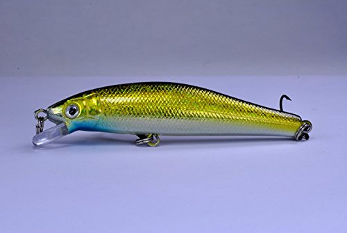 Akuna Phantom Series 3,5 Zoll Flacher Tauchköder, Holografischer Glitzer-Shad, Five of One Color von Akuna