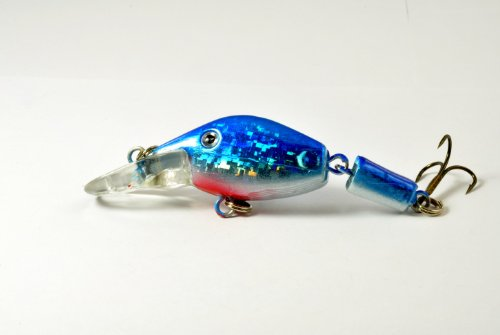 Akuna Wobbler Series Kunstköder mit Gelenken, 6,6 cm, Holographic Neon Shad, Two of One Color von Akuna