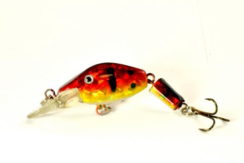 Akuna Wobbler Series Kunstköder mit Gelenken, 6,6 cm, Holographic Red Leopard, Five of One Color von Akuna