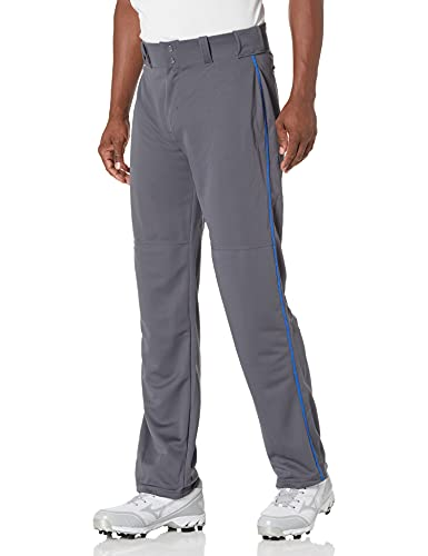 Alleson Ahtletic Herren Baseball-Hose mit Braid, 605WLB, Charcoal/Royal, XXXL von Alleson Ahtletic