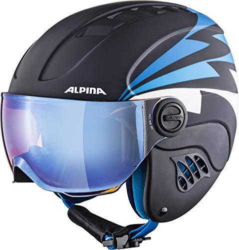 ALPINA CARAT LE VISOR Skihelm, Kinder, nightblue-denim matt, 48-52 von ALPINA