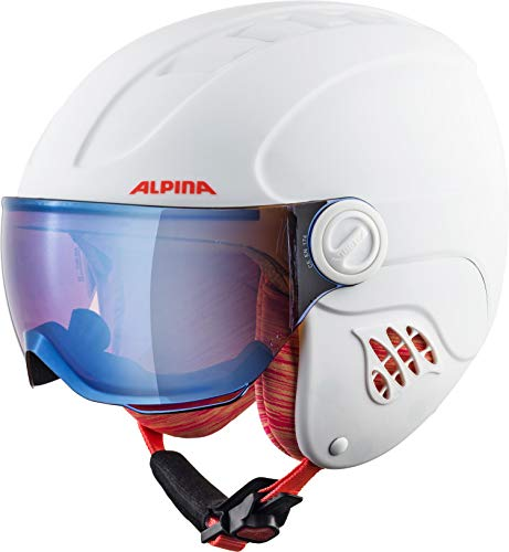ALPINA CARAT LE VISOR Skihelm, Kinder, white-flamingo matt, 48-52 von ALPINA