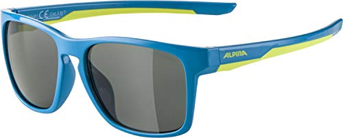 ALPINA Unisex - Kinder, FLEXXY COOL KIDS I Sportbrille, blue-lime gloss, One Size von Alpina