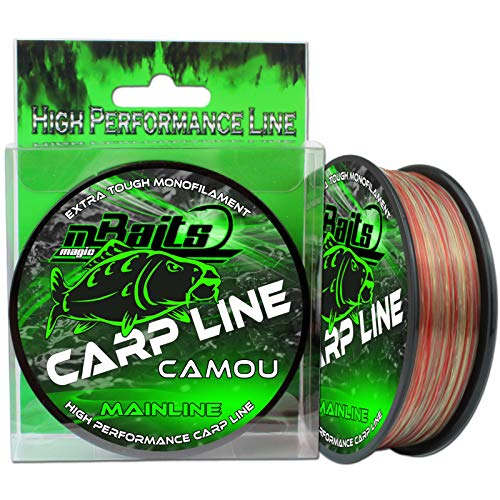 Angel-Berger Magic Baits Carp Line Camou Angelschnur Monofile Schnur (300m, 0,30mm) von Angel-Berger