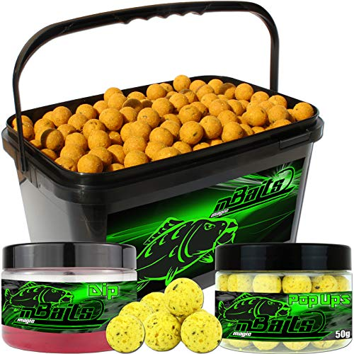 Angel Berger Session Set Boilies Pop Ups Dip (Mais, 18mm) von Angel-Berger