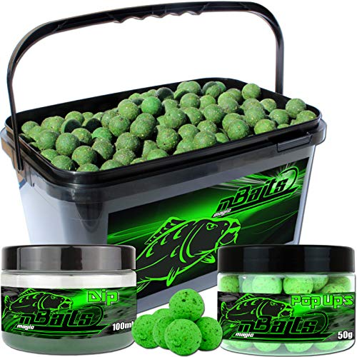 Angel-Berger Session Set Boilies Pop Ups Dip (Muschel, 20mm) von Angel-Berger