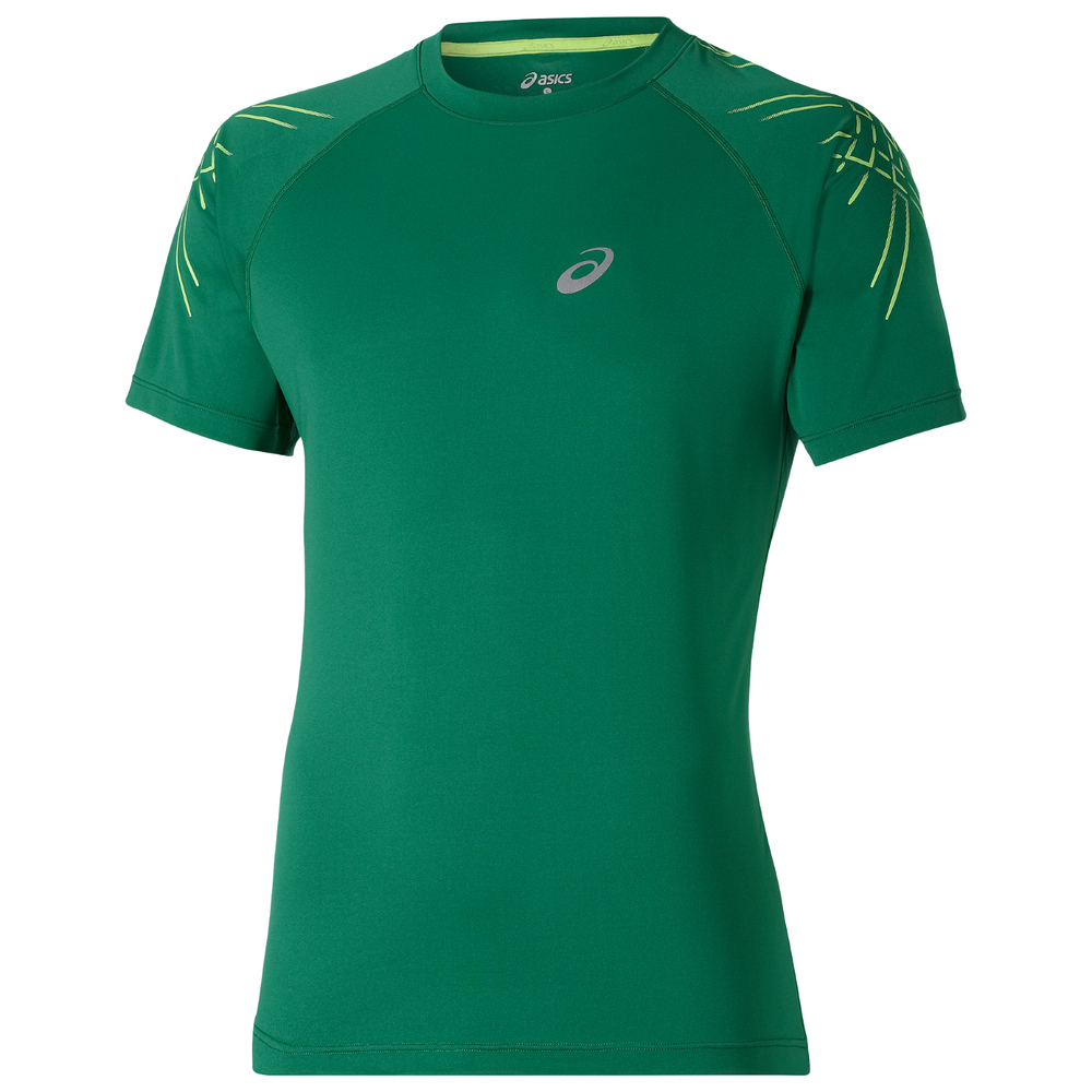 Asics Men Stripe SS Top Laufshirt - 121620-5007 von Asics