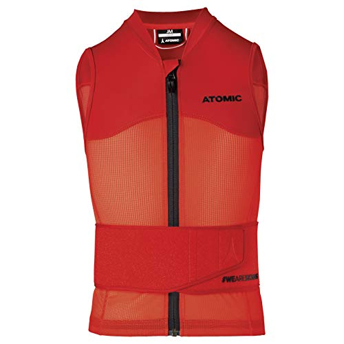ATOMIC Kinder Live Shield Vest Jr Ski-Protektor-Weste, red, M von Atomic