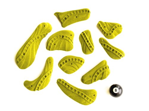 Atxarte Training Screw Climbing Holds, Yellow, Large von Atxarte
