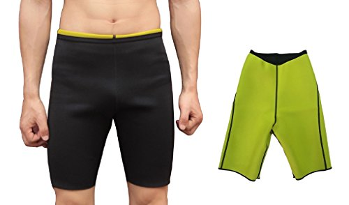 Ausom Herren Schweiß Body Shaper Shorts Hot Thermo Slimming Sauna Hose Gewicht Verlust Schwarz -, Herren, Schwarz, S = US XS von Ausom