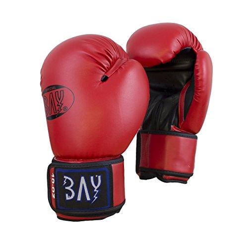 BAY® SILBERWEIß Trainingshandschuhe Boxhandschuhe Handschutz weiß silber grau