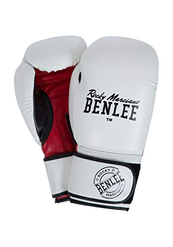 BENLEE Rocky Marciano Carlos Boxhandschuhe, White/Black/Red, 10 oz von BENLEE Rocky Marciano