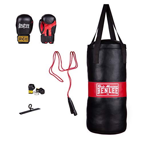 BENLEE Rocky Marciano Kinder Boxing Bag Set Punchy Boxsack, Schwarz, One size von BENLEE Rocky Marciano
