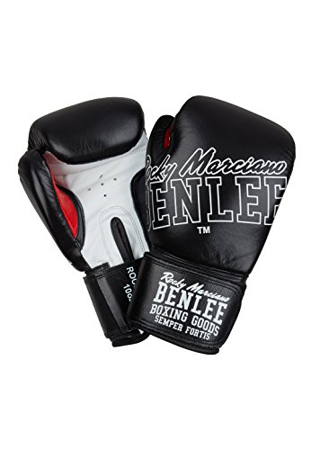 BENLEE Rocky Marciano Rockland Boxhandschuhe, Black/White, 10 oz von BENLEE Rocky Marciano