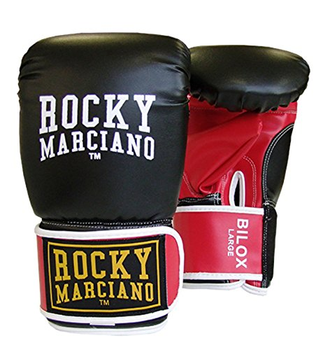 BENLEE Rocky Marciano Unisex – Erwachsene BILOX Artificial Leather Bag Mitts, Black/Red, L von BENLEE Rocky Marciano