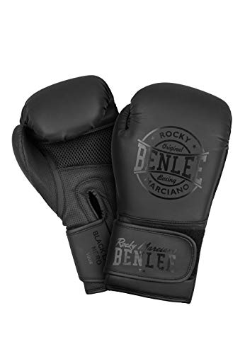 BENLEE Rocky Marciano Unisex - Erwachsene Black Label Nero Artificial Leather Boxing Gloves, 10 oz von BENLEE Rocky Marciano