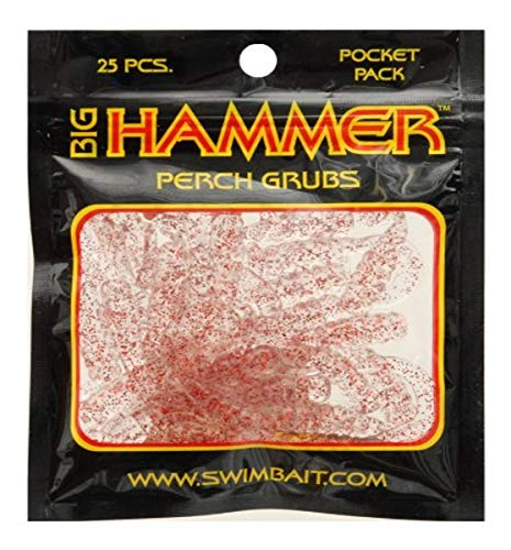 BIG HAMMER Perch Grub Bait, Klar Rot, 1–3/4-Zoll von BIG HAMMER