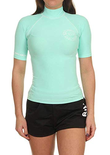 BILLABONG Damen Rashguard Logo IN SS, Seagreen, L, N4GY01 BIP9 1977 von BILLABONG