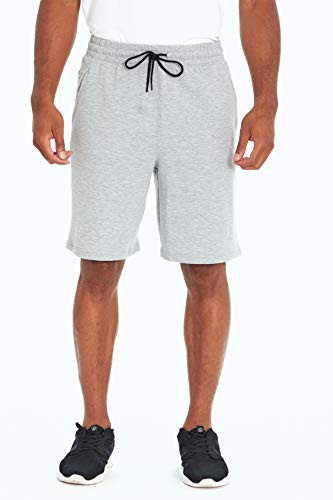 Balance Collection Herren Dominick French Terry Pocket Short, Hellgrau, Medium von Balance Collection