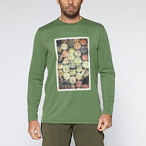 Berg Outdoor Herren COROTO Tech Long-Sleeve T-Shirt, Vineyard Green, S von Berg Outdoor