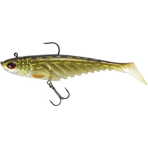 Berkley Giant Ripple Prerigged Swimbait 16cm Gummifisch, Farbmuster:Pike von Berkley