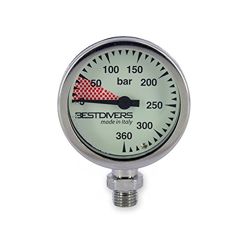 Best divers ab0776 Manometer Sub, Silber, 5.2 x 2.5 cm von Best divers