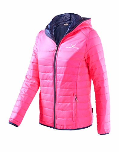 Black Crevice Damen Steppjacke Daunenoptik, Pink, 40 von Black Crevice