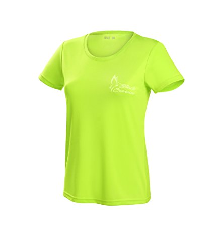 Black Crevice Damen T-Shirt Function, lime1, 44 von Black Crevice