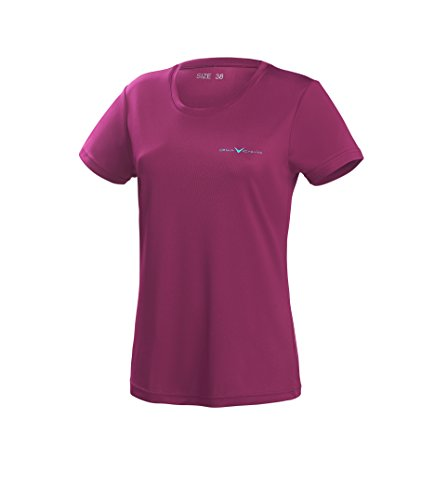 Black Crevice Damen T-Shirt Function, purple3, 38 von Black Crevice