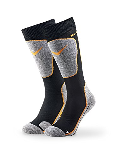 Black Crevice Erwachsene Skisocken, Black/Orange, 35-38 von Black Crevice