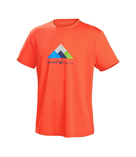 Black Crevice Herren T-Shirt Function, orange1, XL von Black Crevice