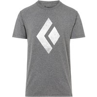 Black Diamond Herren Chalked Up T-Shirt (Größe S, Grau) von Black Diamond
