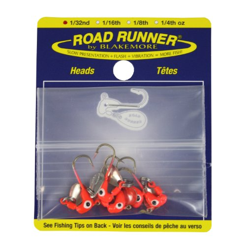 Blakemore TTI Fishing Co Road Runner Bulk Head Haken (rot, 1/32 oz) von Blakemore TTI Fishing Co