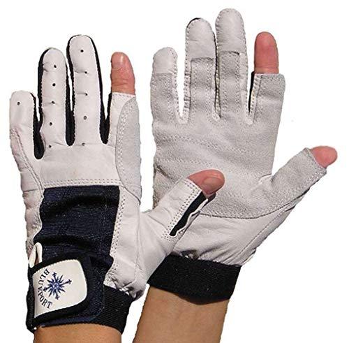 Gill Deckhand Segelhandschuhe Long Finger für Damen und Herren 2 Finger frei Bootsport Handschuhe