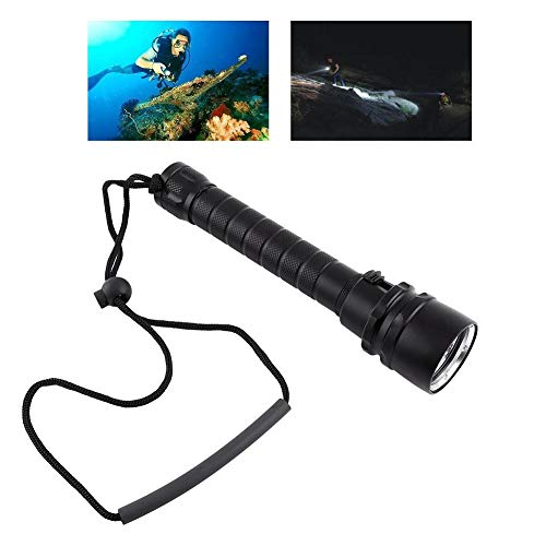 Bnineteenteam Diving Flashlight, LED Scuba Diving Light,Waterproof Underwater Torch with Hand Strap for Diving, Camping, Hiking, Trekking, Hunting, Fishing von Bnineteenteam