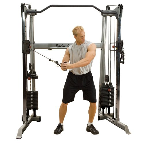 BODY-SOLID GDCC-200 Functional-Trainer Cable Crossover Maschine mit 2x 95kg Steckgewichten von Body-Solid