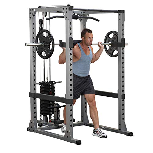 Body-Solid Monster Power-Rack GPR-378 (Grundrahmen mit Dipstangen) von Body-Solid