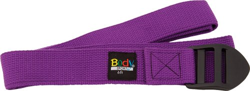 Body Sport Yoga Strap Product – Anti-Slip Strap for Yoga, Pilates, and Stretching – 6-Feet – Purple von Body Sport
