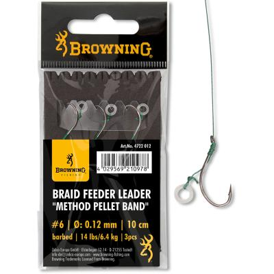 6 Braid Feeder Leader Method Pellet Band bronze 6,4kg 0,12mm 10cm 3Stück von Browning