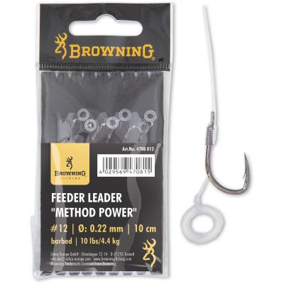 Browning #12 Feeder Leader Method Power Pellet Band bronze 0,22mm von Browning