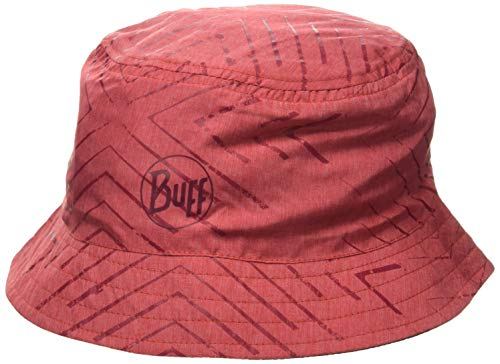 Buff Travel Bucket Hat Baskenmütze, Rot, S/M von Buff
