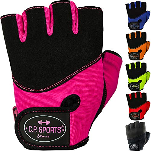 CP Sports Trainingshandschuhe Profi-Grip F9 Blau Pink Schwarz Handgelenkbandagen