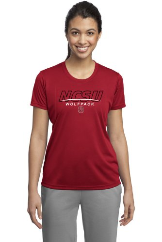 CI Sport NCAA Damen North Carolina State Wolfpack Cades Performance T-Shirt, Damen, rot, XX-Large von CI Sport